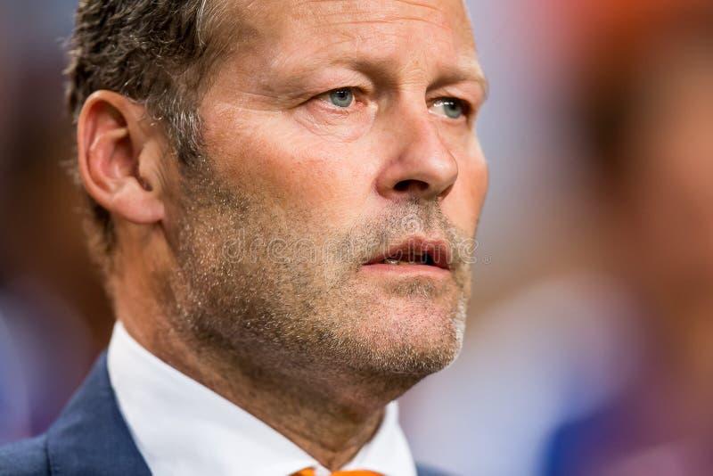 Trener główny holenderska piłki nożnej drużyna Danny Blind zdjęcie stock