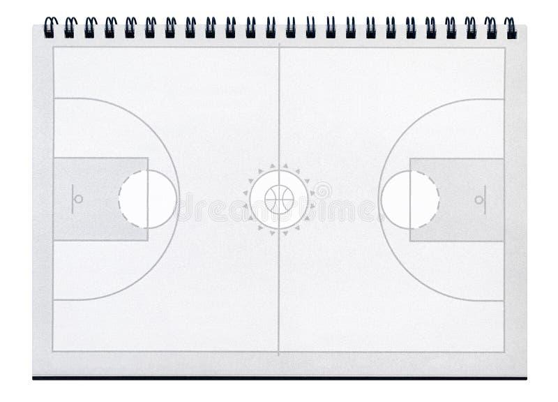 Trenera koszykówki notatnik obraz stock