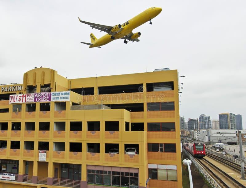Trenes, aviones y automóviles, Laurel Parking Garage foto de archivo libre de regalías
