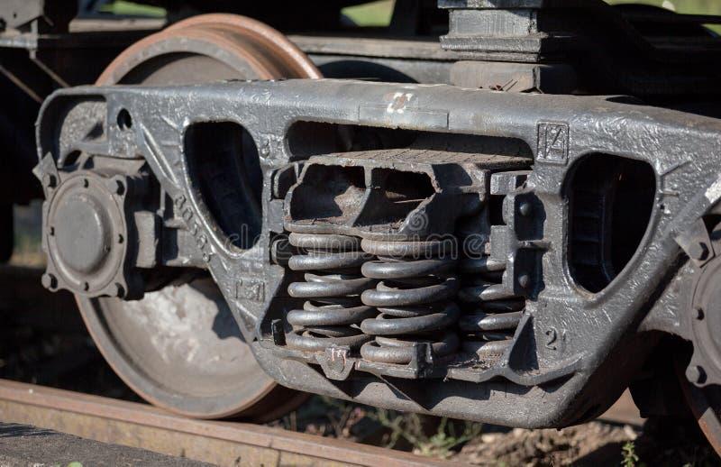 Trenes de carga que funcionan con piezas imagen de archivo libre de regalías