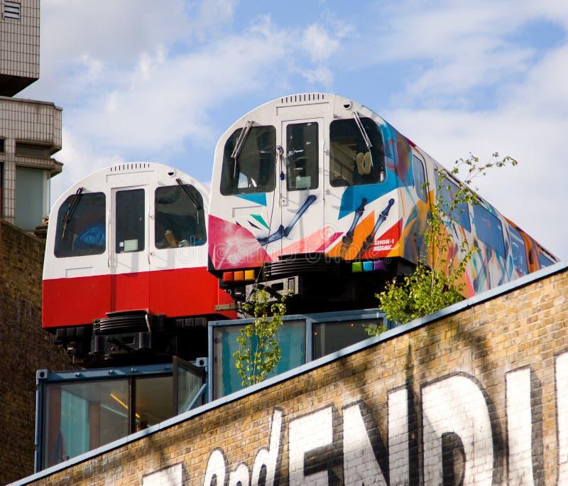 Trenes de Shoreditch imágenes de archivo libres de regalías