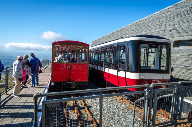 Trenes de Snowdon fotografía de archivo libre de regalías