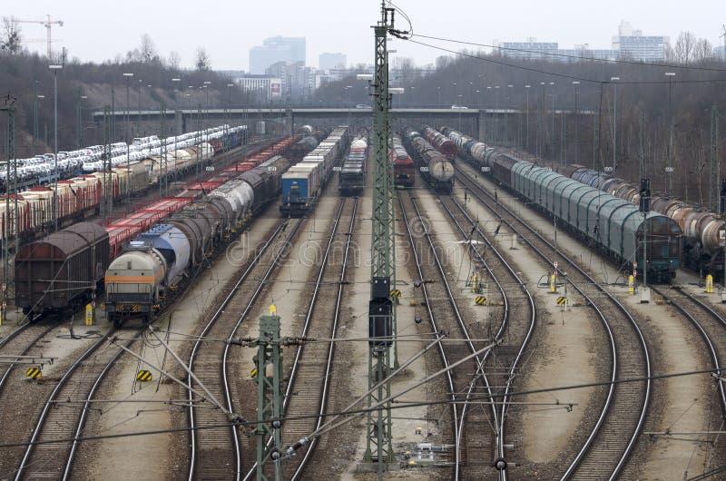 Trenes del cargo imagenes de archivo