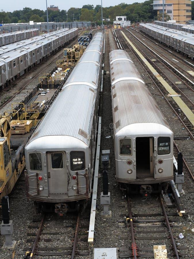 Treni del metropolitana di new york fotografia stock