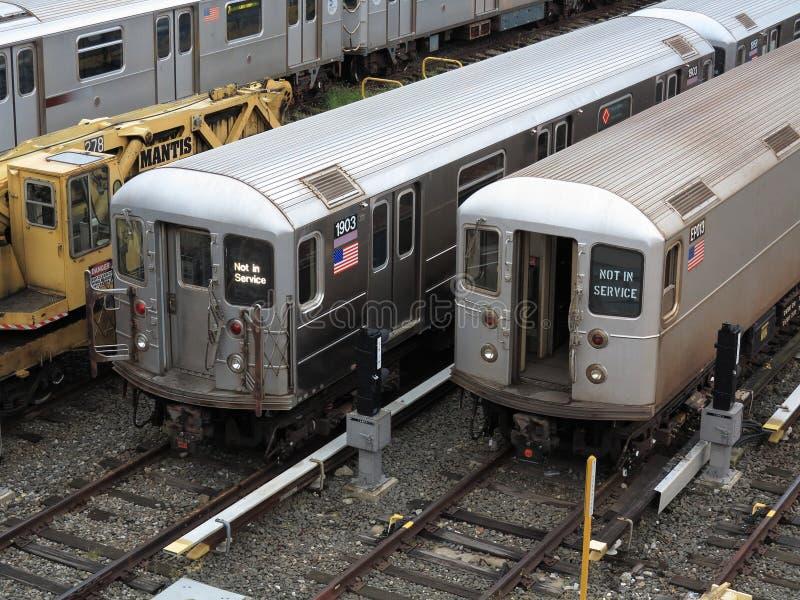 Treni del metropolitana di new york fotografie stock libere da diritti