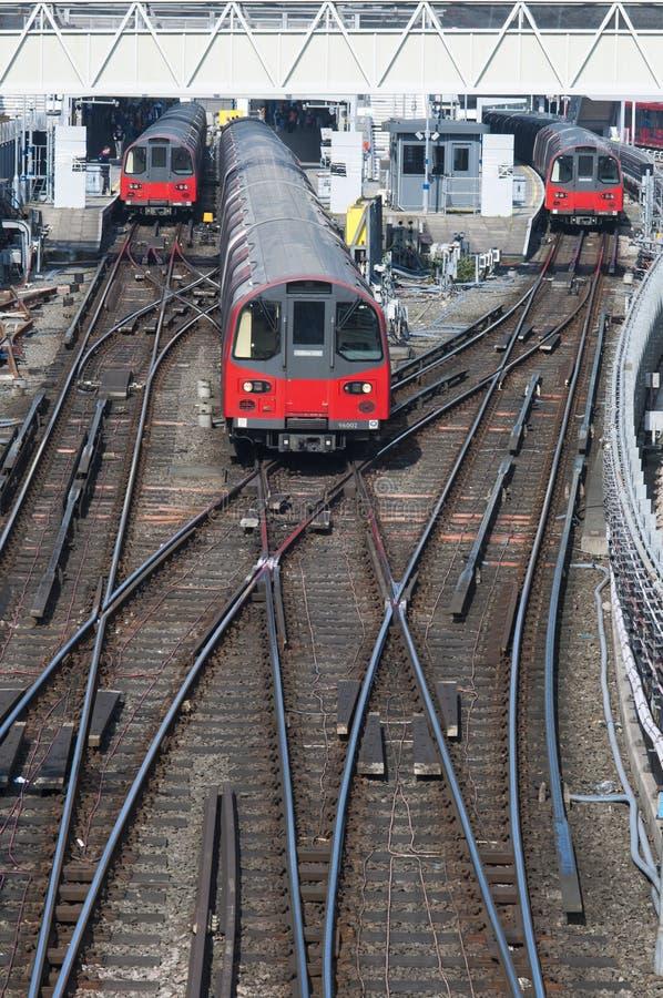 Treni della metropolitana di Londra immagini stock libere da diritti