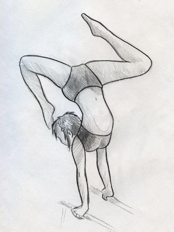 Trening dziewczyna royalty ilustracja