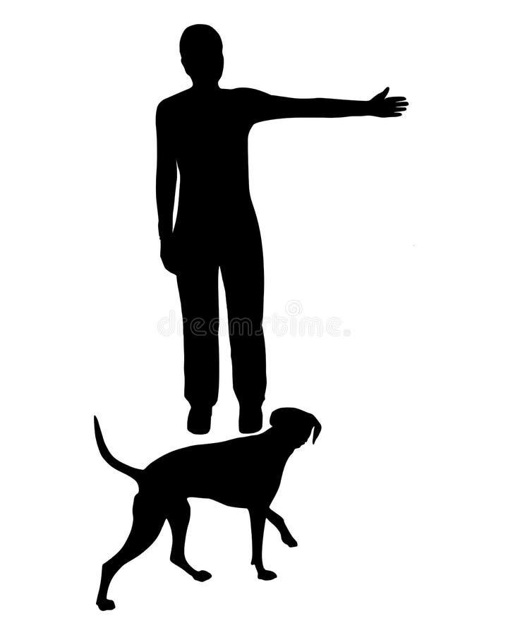 trening posłuszeństwa psów ilustracji