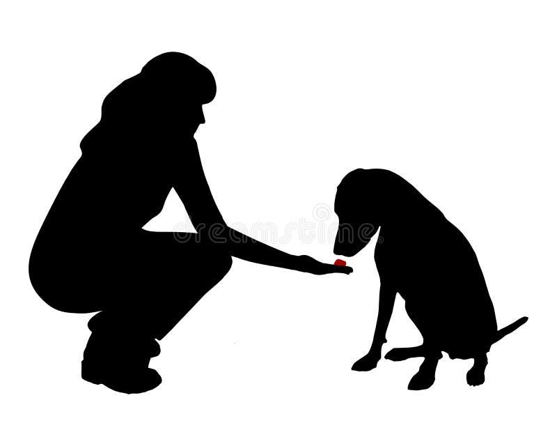 trening posłuszeństwa psów royalty ilustracja