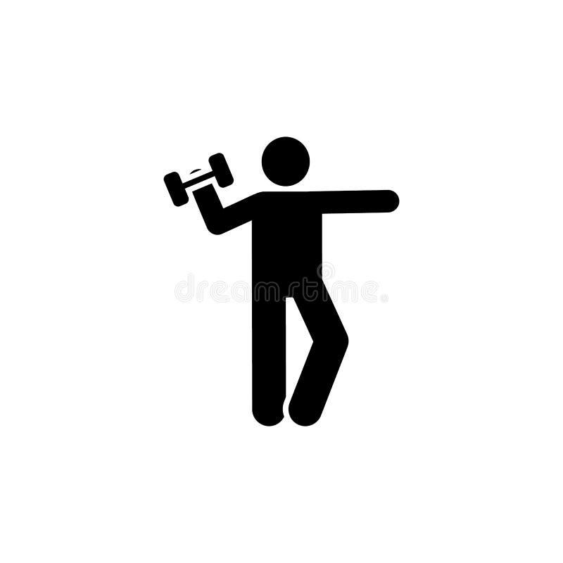 Trening, sport, sport, gym, mężczyzna ikona Element gym piktogram Premii ilo?ci graficznego projekta ikona znaki i symbole inkaso ilustracja wektor