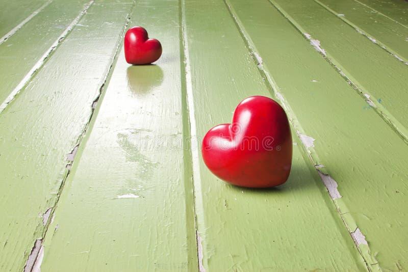 Trennungs-Liebes-Herz-Hintergrund lizenzfreies stockbild