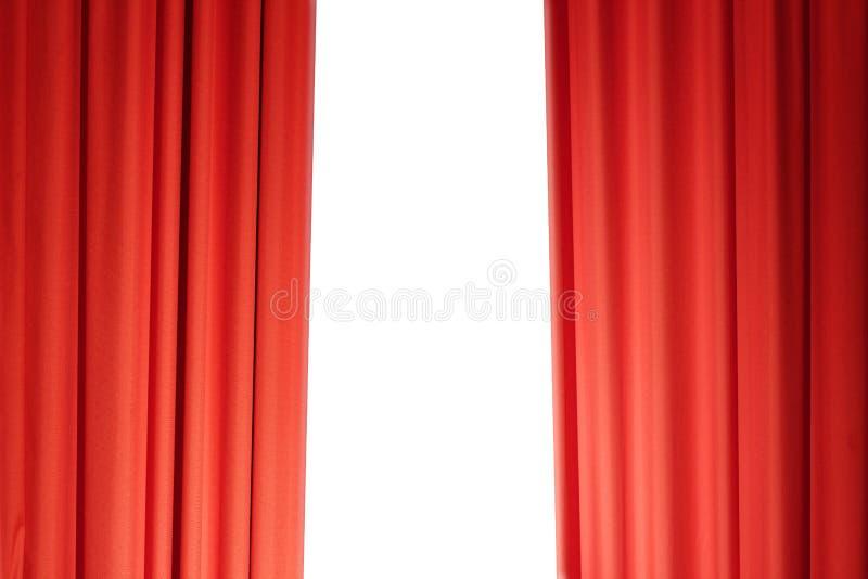 Trennvorhänge im Rot lizenzfreie stockfotografie