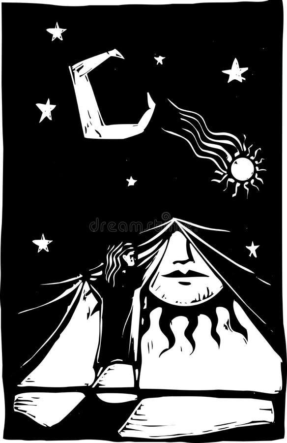 Trennvorhang der Nacht #1 lizenzfreie abbildung