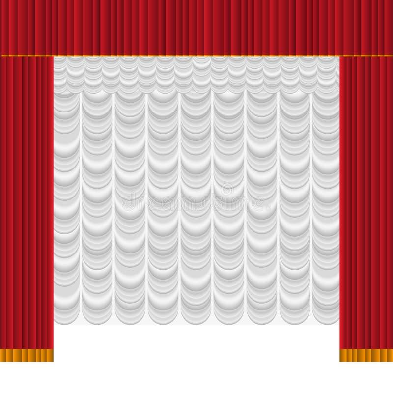 trennvorhang vektor abbildung