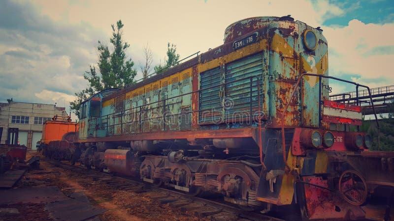 Treno abbandonato immagine stock