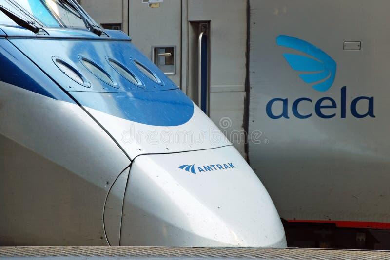 Treno ad alta velocità Acela di Amtrak fotografie stock libere da diritti
