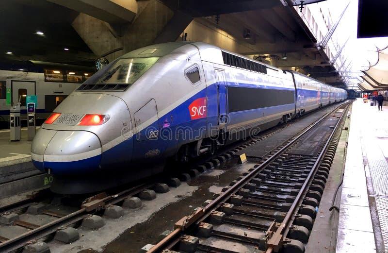 Treno ad alta velocità del TGV fotografie stock