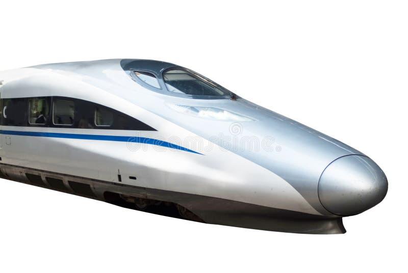 Treno ad alta velocità isolato immagine stock