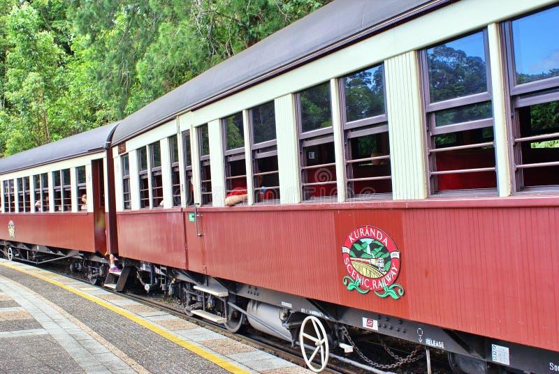Treno in Barron Gorge National Park immagine stock libera da diritti