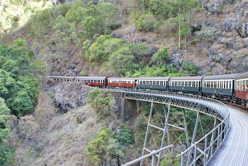 Treno Barron Gorge National Park fotografie stock libere da diritti
