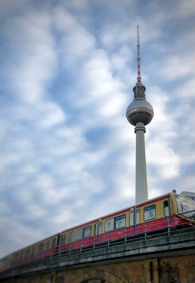 Treno Berlino di S-bahn immagini stock libere da diritti