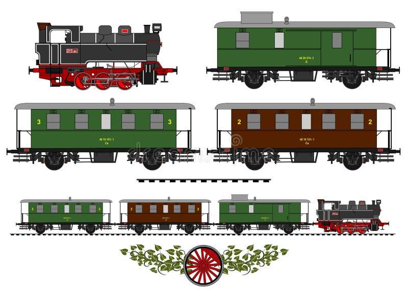 Treno d'annata illustrazione di stock