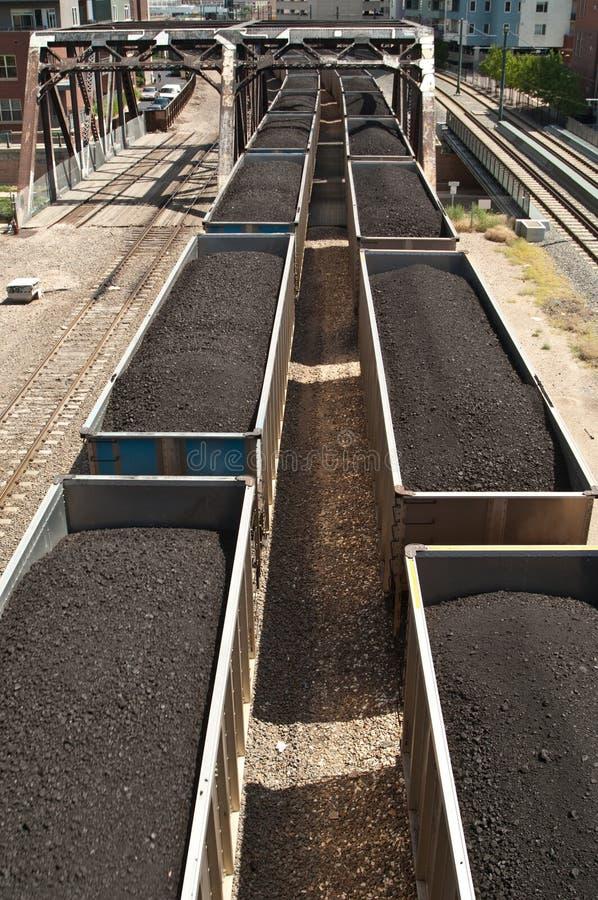 Treno del carbone fotografia stock libera da diritti