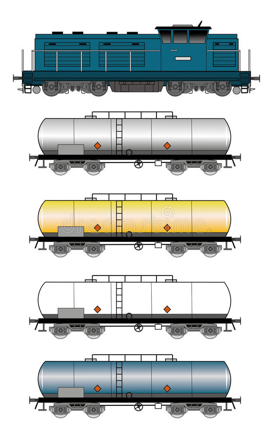 Treno del carro armato illustrazione di stock
