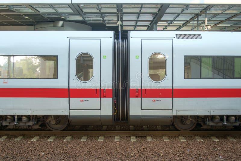 Treno del GHIACCIO a Berlin Station fotografia stock