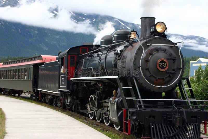 Treno del motore a vapore fotografie stock