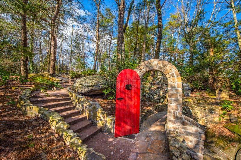 Treno del Rock City Gardens nel Chattanooga Tennessee TN fotografia stock libera da diritti