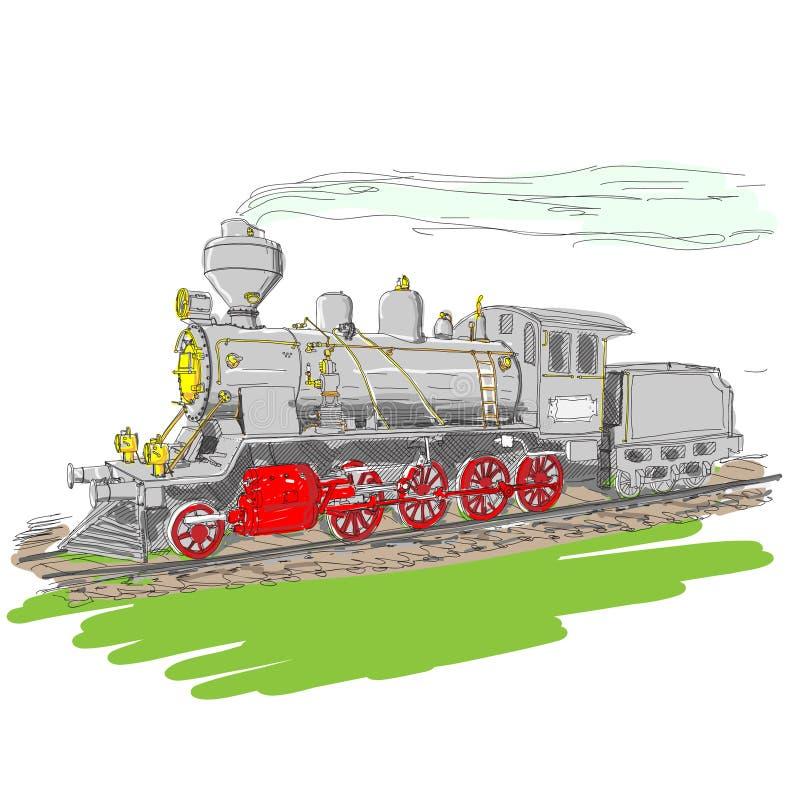 Treno del vapore. fotografia stock