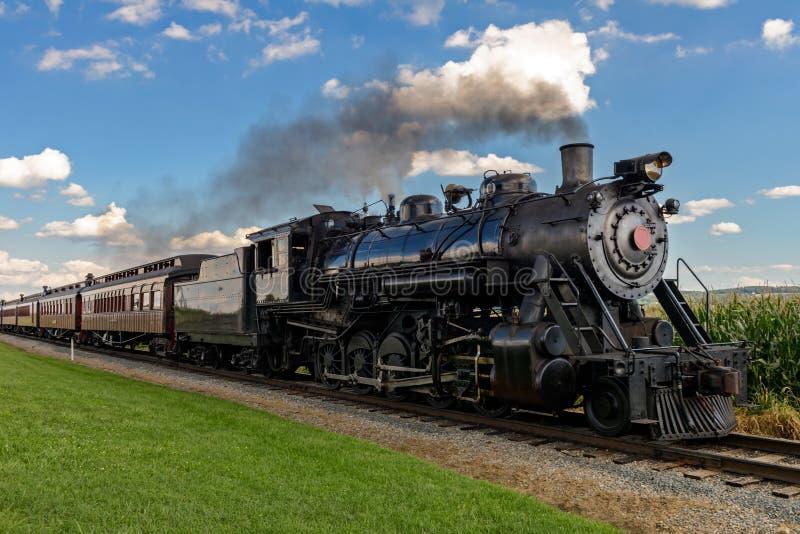 treno del vapore fotografia stock