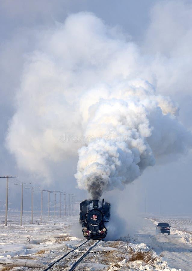 Treno del vapore immagine stock
