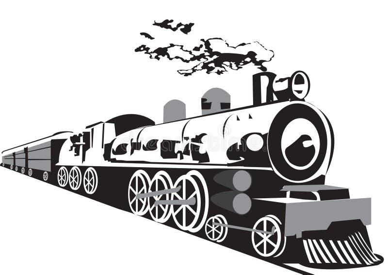 Treno del vapore illustrazione di stock