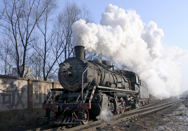 Treno del vapore immagini stock libere da diritti