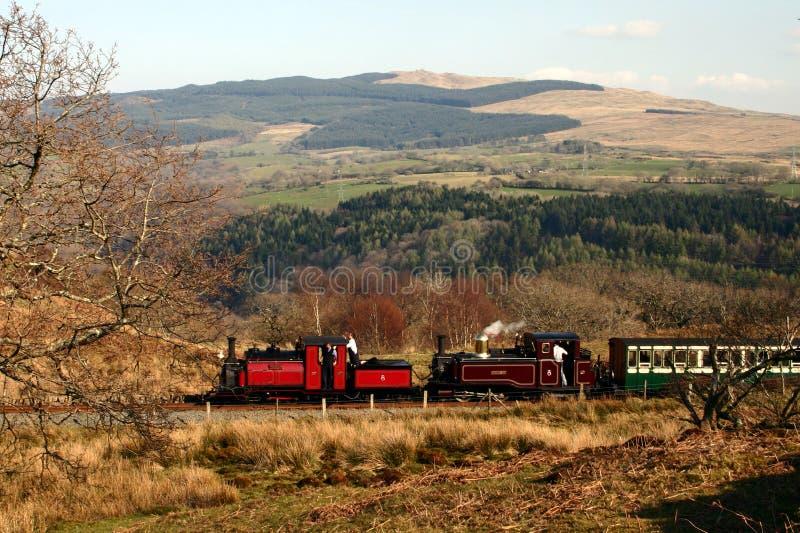Treno del vapore in montagne 10 fotografia stock libera da diritti