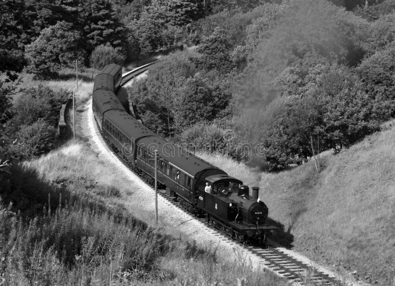 Treno del vapore nel paese di Bronte fotografie stock libere da diritti