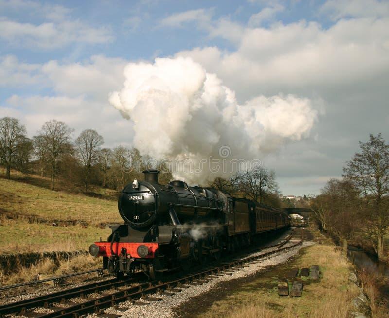 Treno del vapore nel paese di Bronte immagine stock
