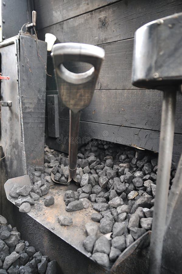 Treno del vapore sulla ferrovia fotografia stock