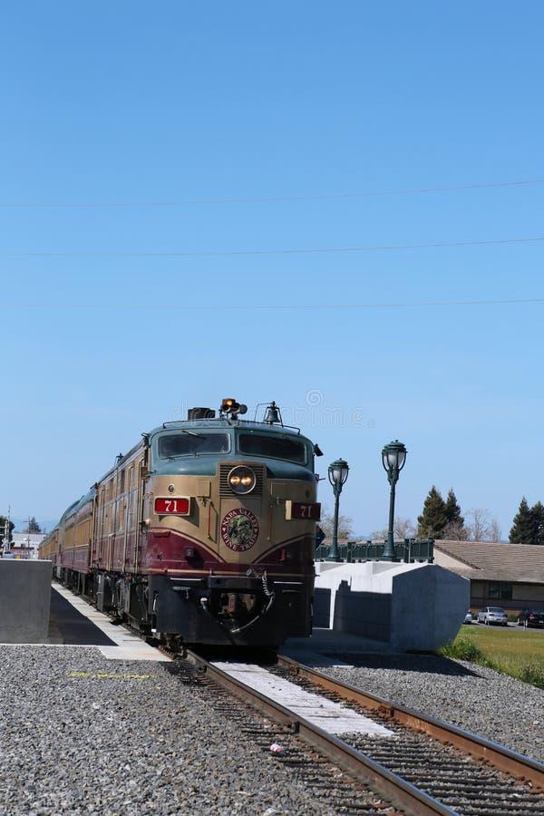 Treno del vino in Napa Valley, California fotografia stock