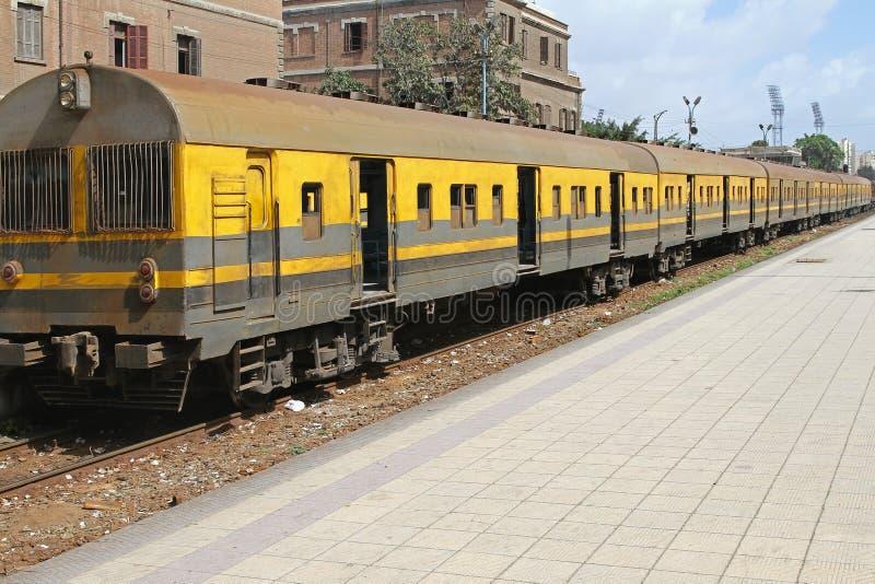 Treno dell'Egitto immagine stock libera da diritti