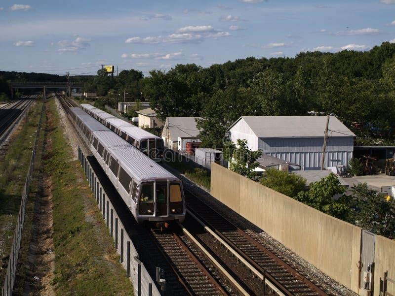Treno della metropolitana del Washington DC fotografia stock libera da diritti