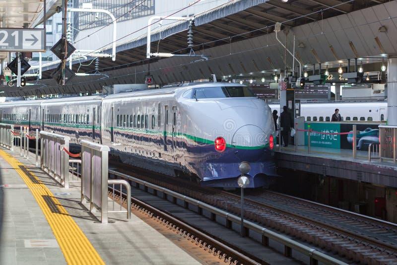 Treno della pallottola di 200 serie (ad alta velocità o Shinkansen) fotografia stock
