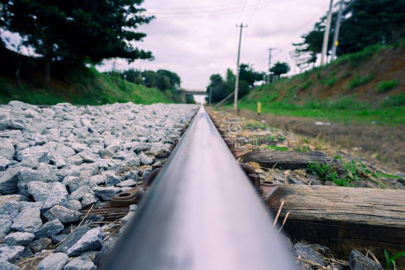 treno della pista fotografie stock