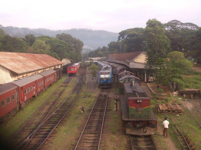 Treno della Sri Lanka Badulla fotografia stock libera da diritti