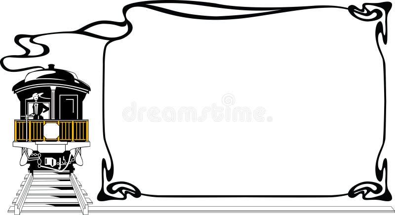 Treno della struttura royalty illustrazione gratis