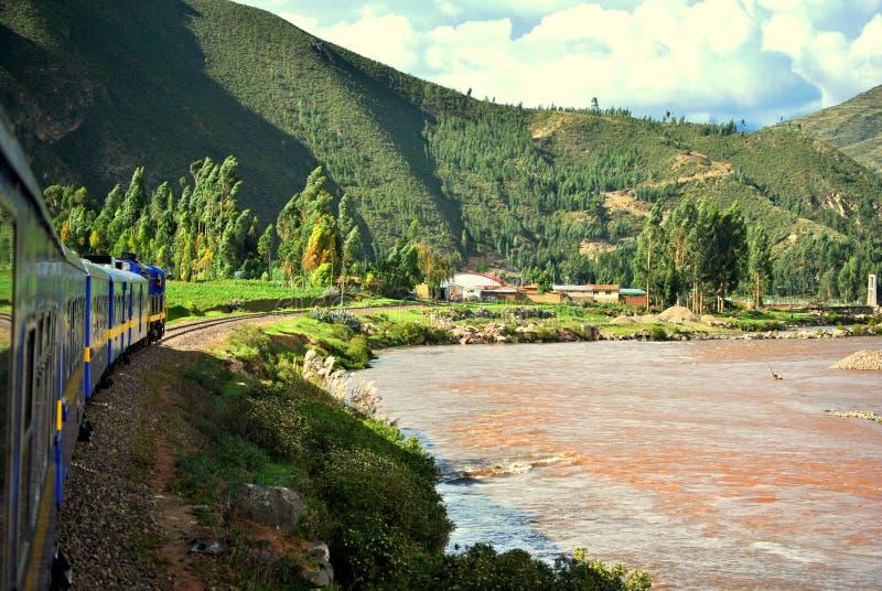 Treno di Cusco fotografie stock
