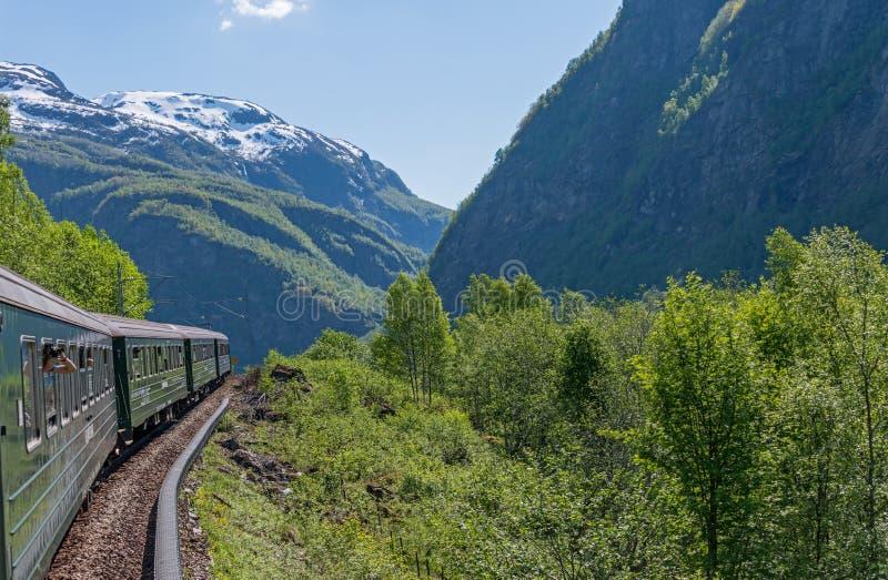 Treno di Flamsbana fotografia stock