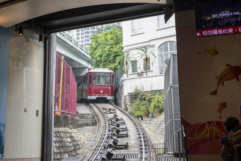 Treno di Hong Kong Peak fotografia stock